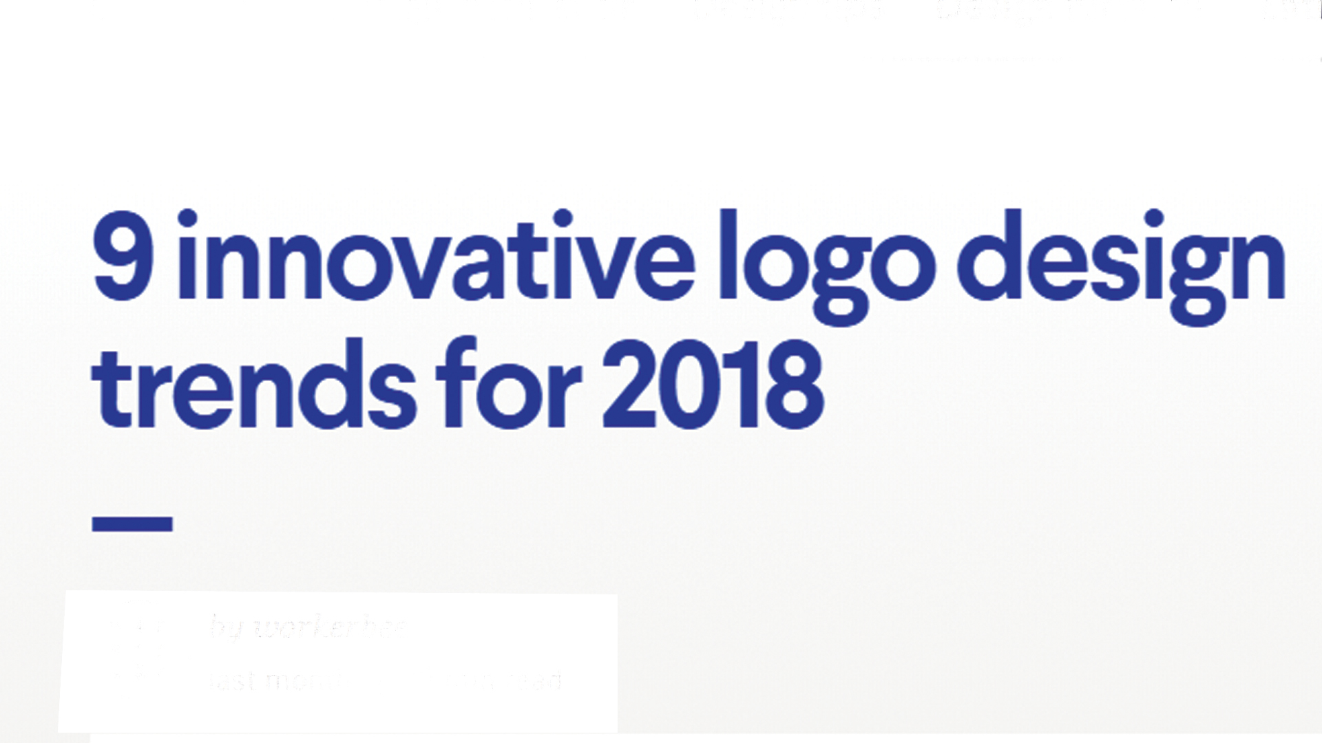 9 Innovative design trends 2018